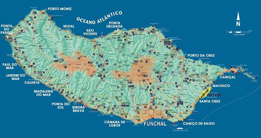 a map madeira, portugal